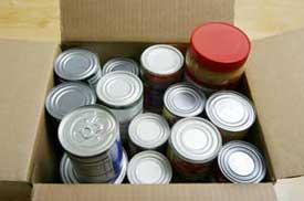 box of cans