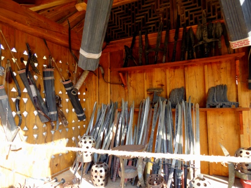 weapons stall
