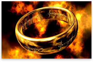 The One Ring was the only Ring of Power without a gem.