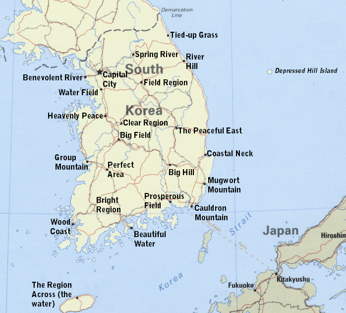 Korean place names in english the green walled tower original map from esrice gumiabroncs Gallery