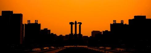 Pyongyang sunset