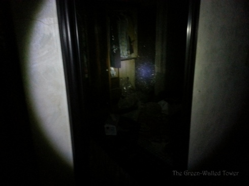 I took a picture of the mirror to see if a ghost would appear in the photograph. But alas.