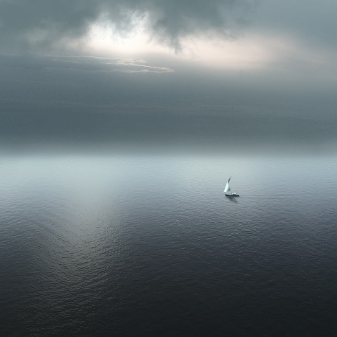 Alone on a boat