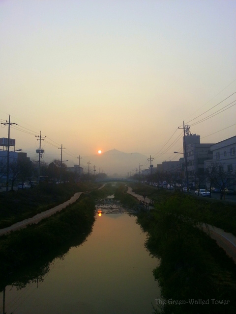 My beautiful little Ajung stream, near our house.