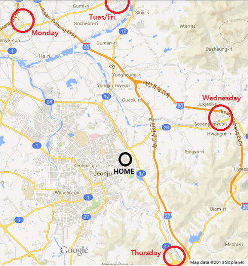 Wanju work map
