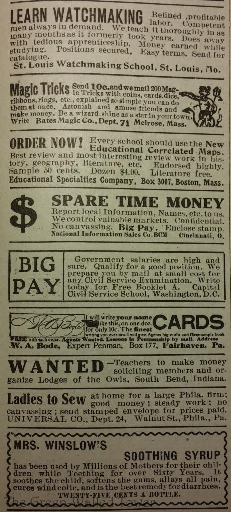 ads in teacher magazines