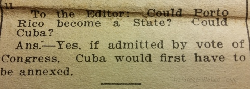 I think we should annex Cuba right now. See how that turns out.