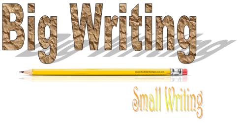 Big writing small writing