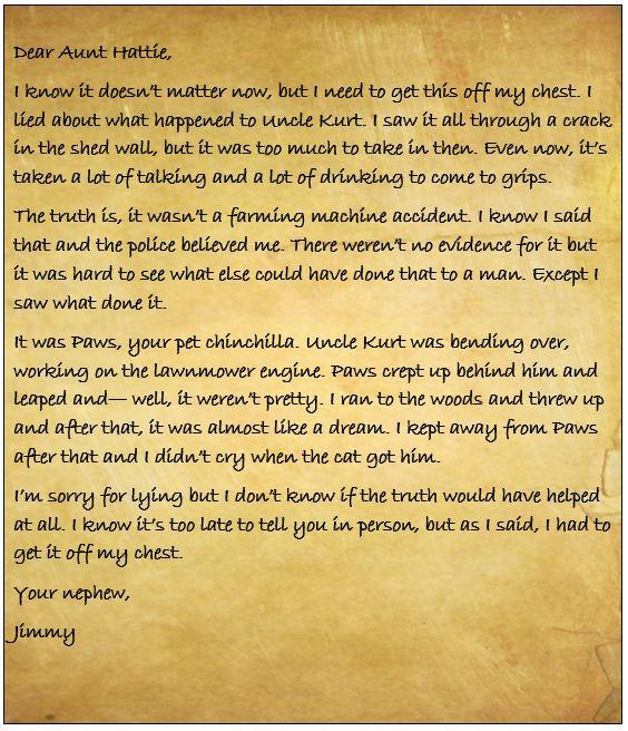 Dear Aunt Hattie Letter