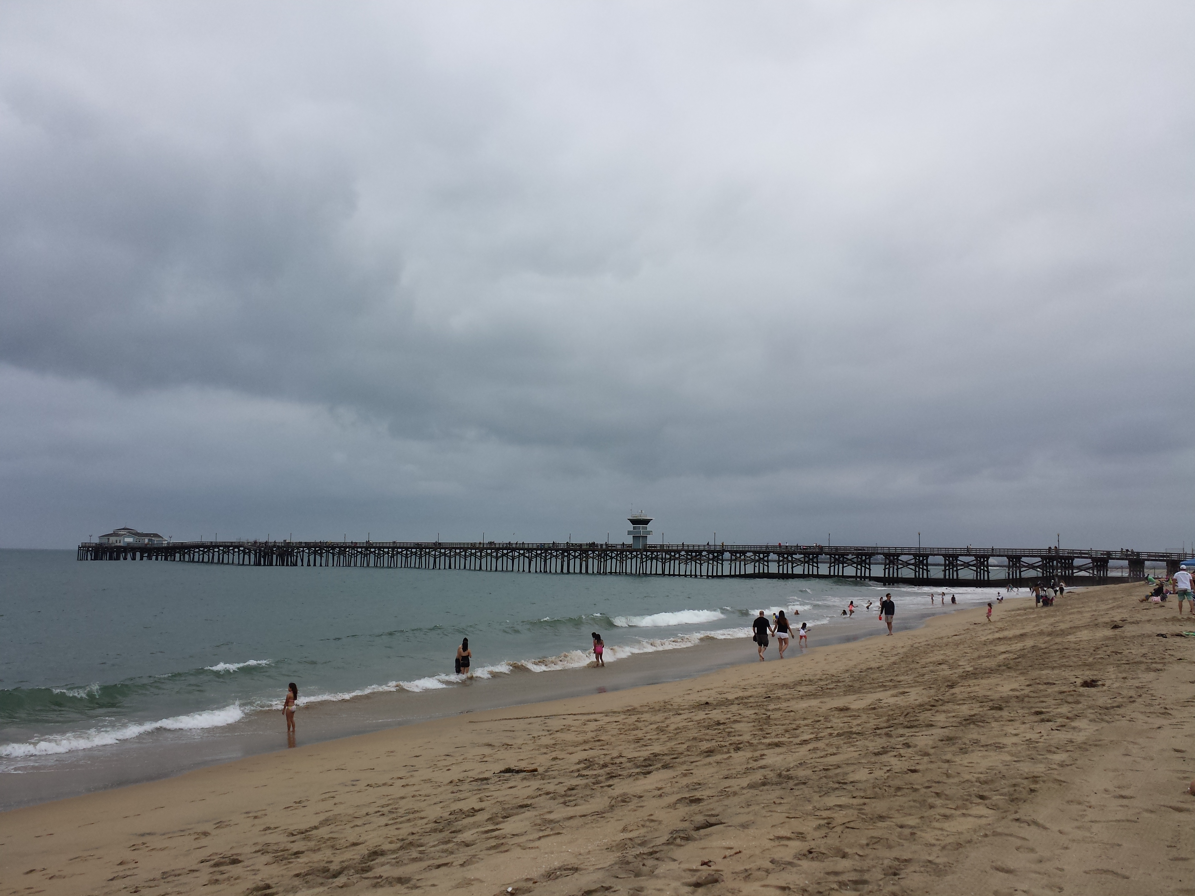 california beach overcast